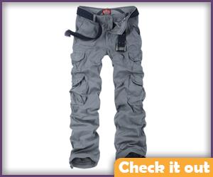 Light Grey Cargo Pants.