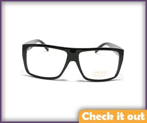 Black Flat Top Square Animated Series Glasses.