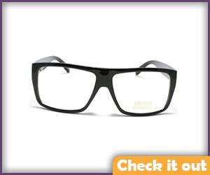 Black Flat Top Square Animated Series Glasses.