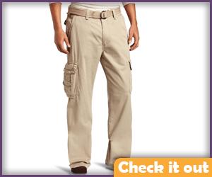 Beige Cargo Pants.