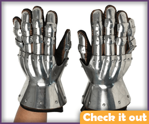 Doctor Doom Costume Steel Gloves.