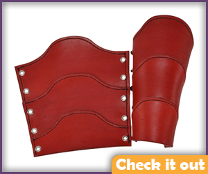 Red Leather Bracers.