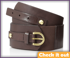 Brown Wide Waist Belt.