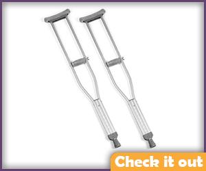 Crutches.