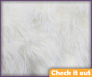White Fur Fabric.