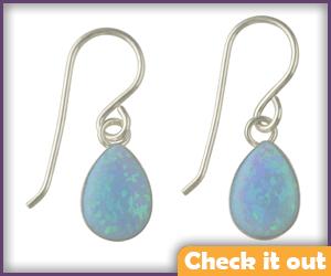 Blue Opal Earrings.