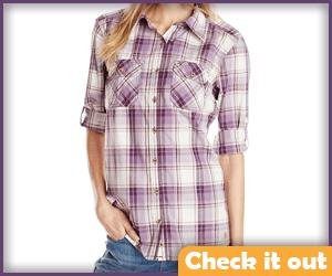 Purple Plaid Shirt.