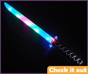 Yellow Light-Up Ninja Sword.