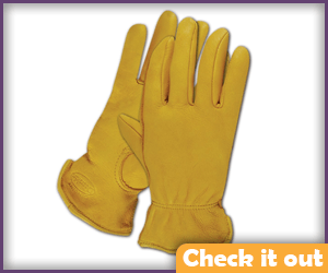 Yellow Deerskin Gloves.