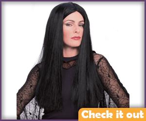 Morticia Black Wig.