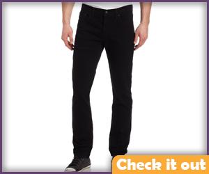 Men's Black Jeans.