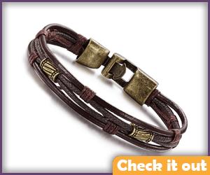 Brown Leather Bracelets.