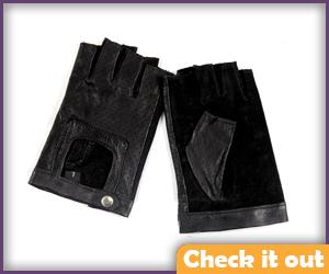 Black Fingerless Gloves.