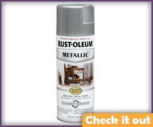 Silver Metallic Spray Paint.