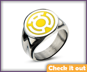 Sinestro Yellow Lantern Ring.