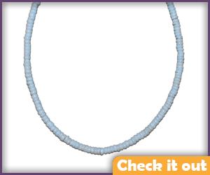 White Puka Shell Necklace.