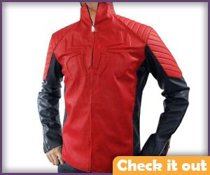 Retro Spider-man Costume Leather Jacket.