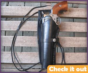 Left Black Leather Gun Holster.