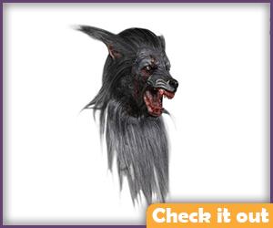 Grey Wolfman Injured Mask.