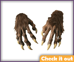 Wolfsbane Costume Brown Fur Hands.
