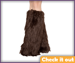Brown Fur Leg Warmers.