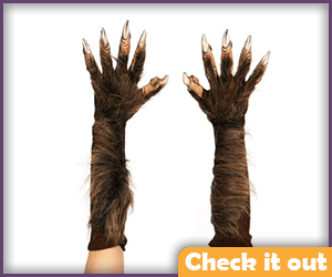 Long Wolfsbane Costume Gloves.