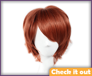 Short Auburn Wig.