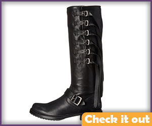 Black Boots with Buckles.