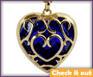 Blue Heart Container Necklace.