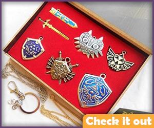 Zelda Triforce Hylian Shield & Master Sword Set.