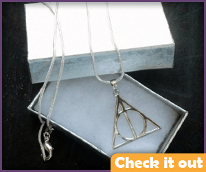 Hermione Deathly Hallows Necklace.