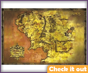 Lord of the Rings Map.