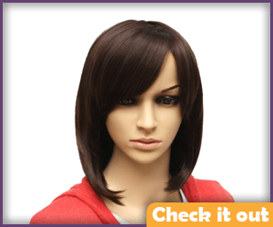 Arya Stark Costume Shoulder-Length Wig.