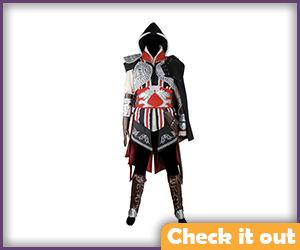 Ezio Auditore Black Hooded Suit.