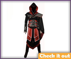 Ezio Black Cosplay Suit.