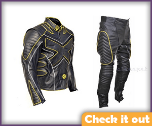 Beast Costume Yellow and Black Leather Set.