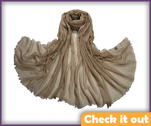 Light Brown Shawl.