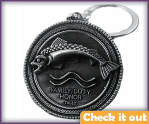 House Tully Sigil Keychain.