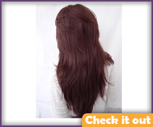 Catelyn Stark Dark Red Long Wig.