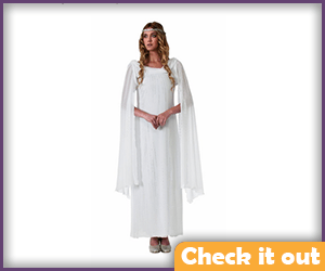 Galadriel Costume White Dress.