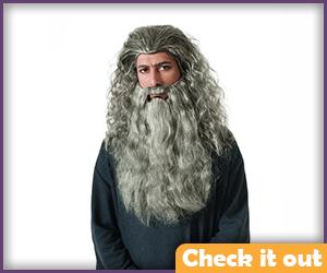 Gandalf Costume Wig Set.