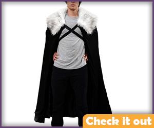 Jon Snow Cape White Fur.