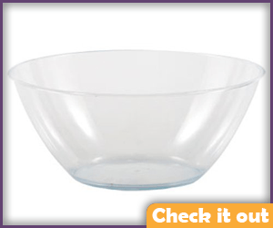 Clear Plastic Bowl.
