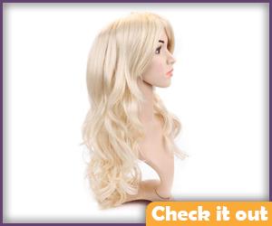 Luna Costume Blonde Wig.