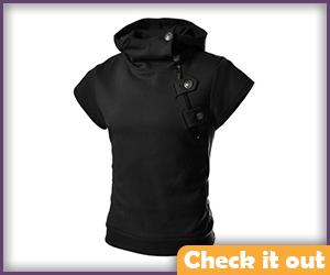 Black Shirt with Buckles.