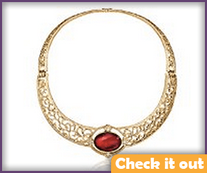 Melisandre Costume Red and Gold Necklace.