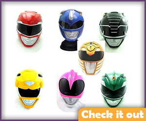 Mighty Morphin Power Ranger Helmet Set.