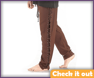 Brown Side-Lace Pants.