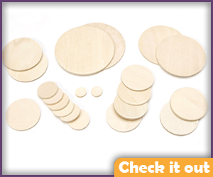 Craft Wooden Circles (for Belt).