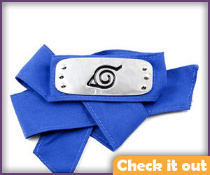 Naruto Costume Blue Headband.
